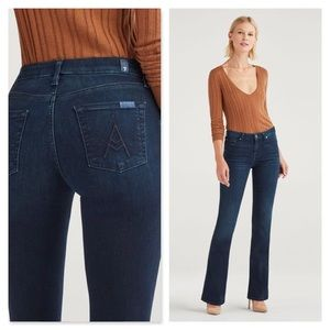 7 for All Mankind A Pocket Flare Blue Jeans 26